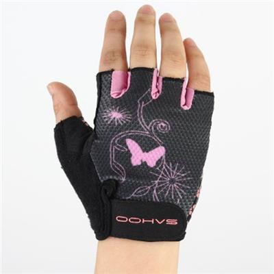 SAHOO Mesh Cloth Breathable Women Half Finger Cycling Bicycle Glove S