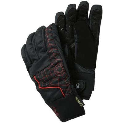 Spyder Men's Under Web Gloves Small Black/Volcano