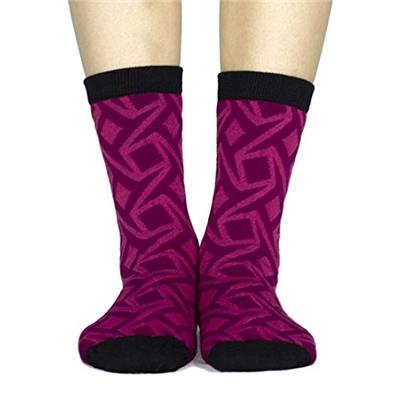 Street Wear Women's Illusion Socks, Red/Black, One Size