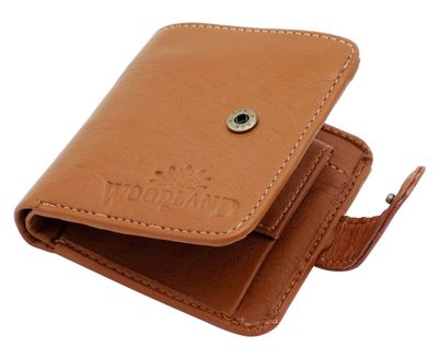 tan wallet for man bifold waoodland