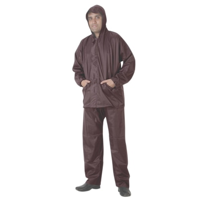 Variety Brown Rain Jacket And Pant Suit