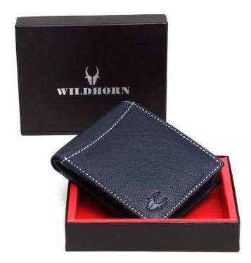WildHorn Old River Blue Genuine High Quality Mens Leather Wallet