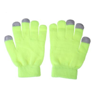 Women Men Touch Screen Soft Cotton Winter Gloves Warmer Smartphone Yellow # International Bazaar