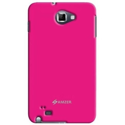 Amzer 92936 Simple Click On Case With Screen Protector For Samsung Galaxy Note - Hot Pink