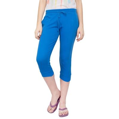 Alibi Blue Cotton Capri