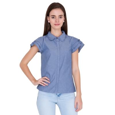 Alibi Blue Chambray Casual Shirt