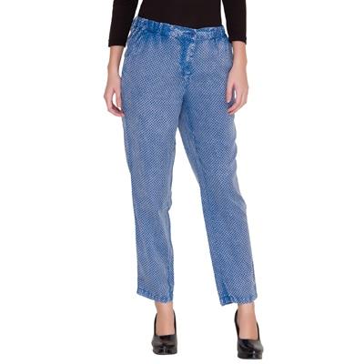 Alibi Blue Cotton Trouser