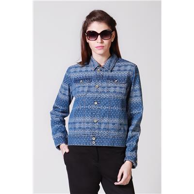 Allen Solly Cotton Blue Regular Fit Long Sleeves Jacket