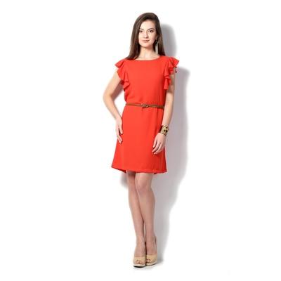 Allen Solly Red Polyester Regular Fit Dress