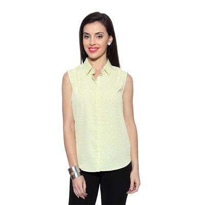 Allen Solly Green Polyester Shirt