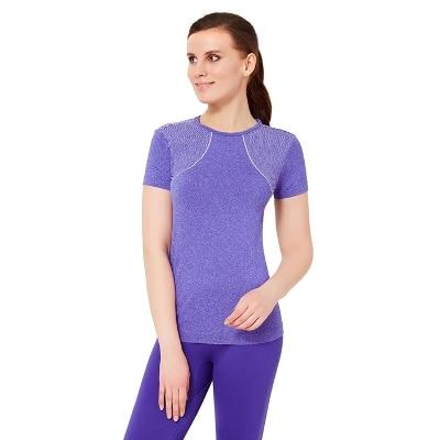 Amante Purple Seamless Fitness T-shirt