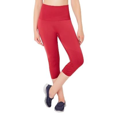 Amante Red Seamless Fitness Capri