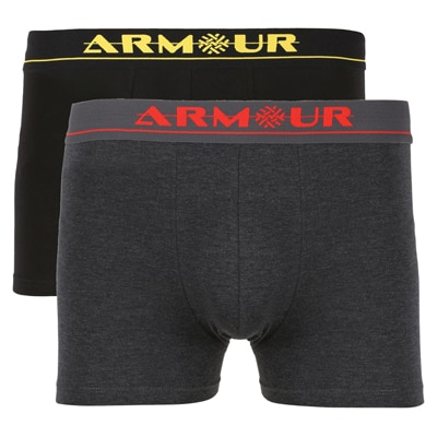 Armour Black And Grey Cotton Pack of 2 Trunk