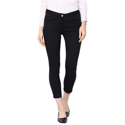 Arrow Black Women Regular Casual Trouser