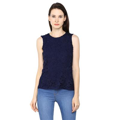 Arrow Blue Women Regular Tops
