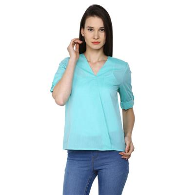 Arrow Green Women Regular Tops