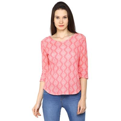 Arrow Orange Women Regular Tops