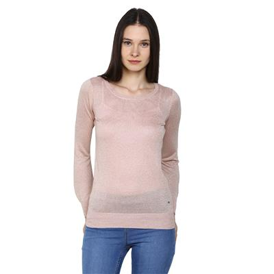 Arrow Pink Women Regular Sweaters