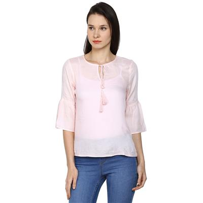 Arrow Pink Women Regular Tops