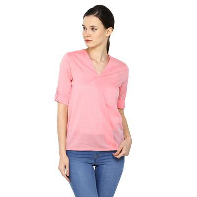 Arrow Red Women Regular Tops