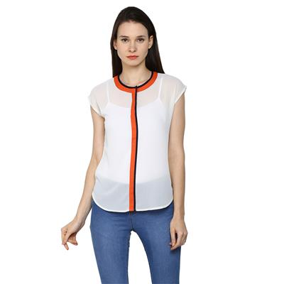 Arrow White Women Regular Tops