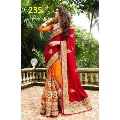 Bansidhar Fabrics Multicolor Georgette Saree With Blouse