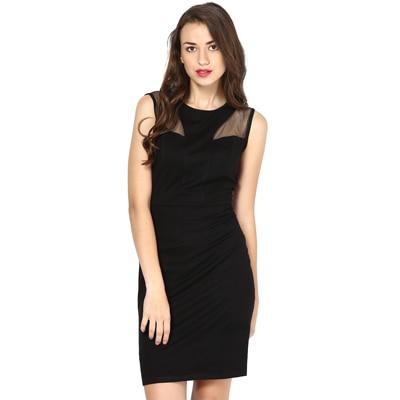 Besiva Black Viscose Dress