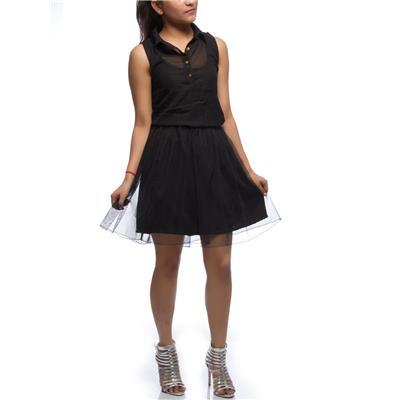 black net gathered skirt