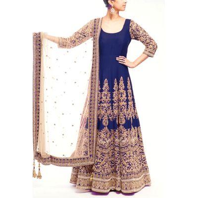 blue salwar suit,ethnic salwar suit ,new fashion salwar suit
