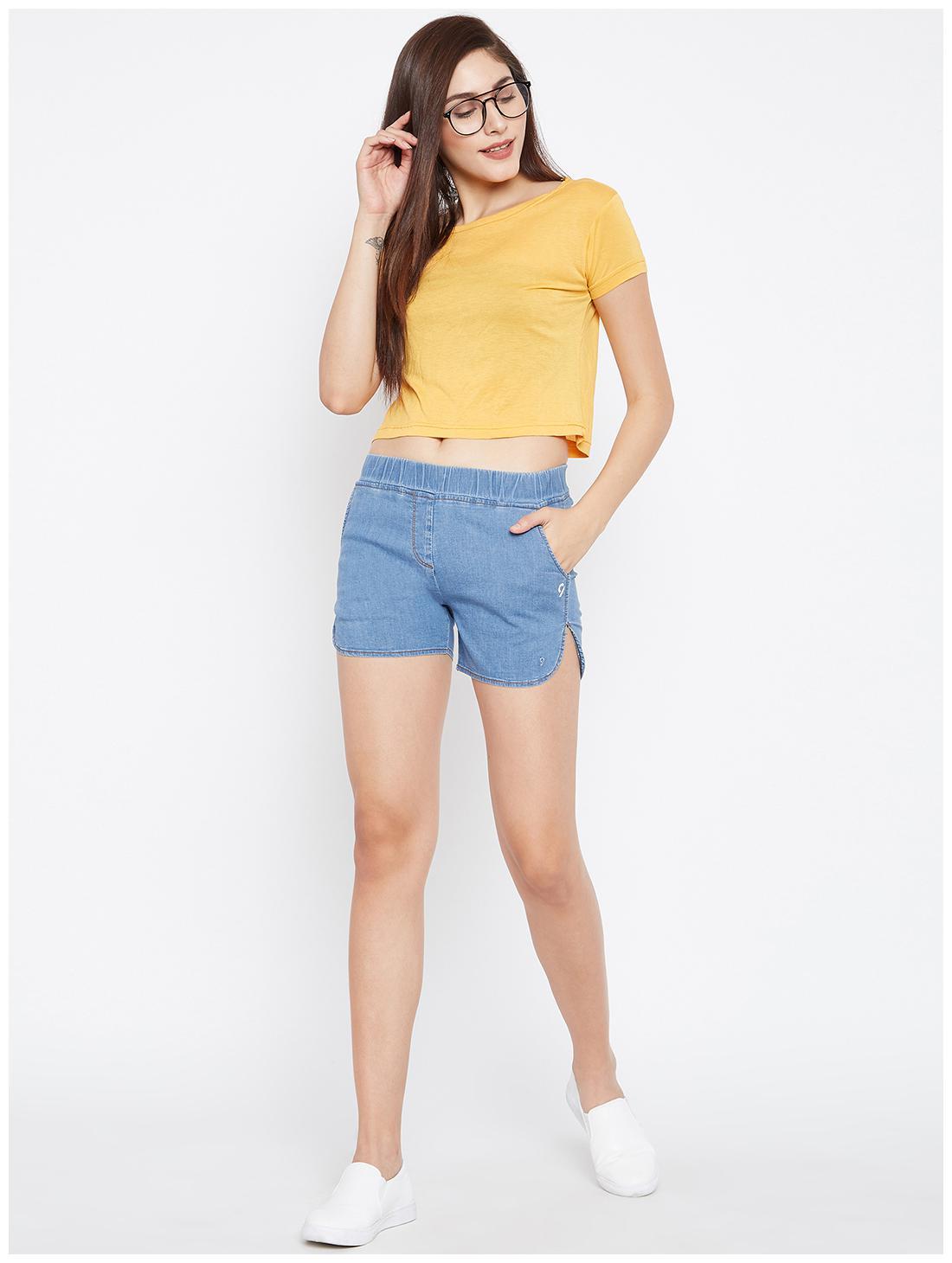 C9 Women Solid Shorts - Blue