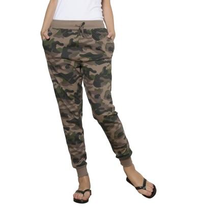 Clifton Womens Army Ribbed Track Pant-Walnut