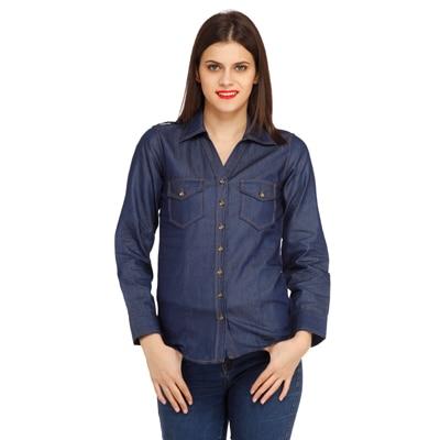 Cottinfab Blue Cotton Shirt