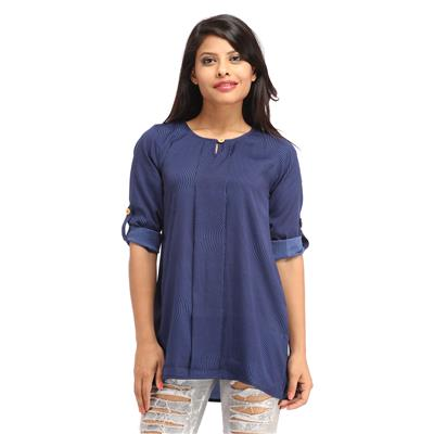 Cottinfab Women's Casual Striped Top