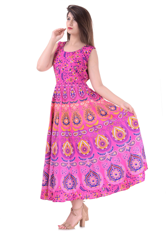 6TH AVENUE STREETWEAR Floral Maxi Dress Pink