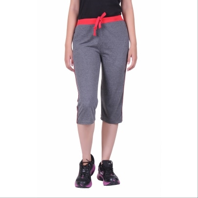 DFH PREMIUM COTTON DARK GREY WOMEN CAPRI