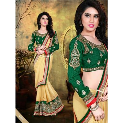 Dharma Products Designer Embroidered Party Wear Georgette Saree available at Paytm for Rs.1419