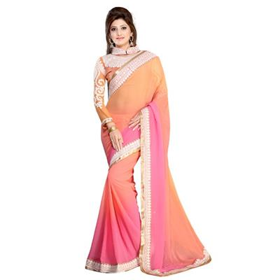 Dharma Products Embroidered Designer Fancy Party Wear Saree available at Paytm for Rs.1399