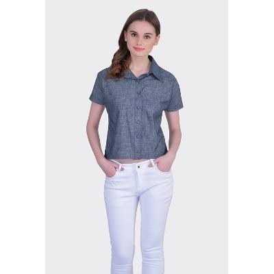 Divaat Women's Denim Short Shirt