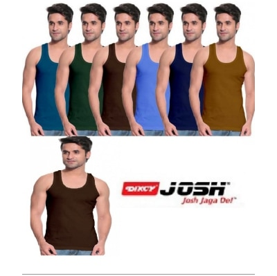 Dixcy Josh RNS Vest White colors Pack Of 7