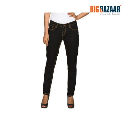 DJ&C Black Slim Fit Women's Jeans