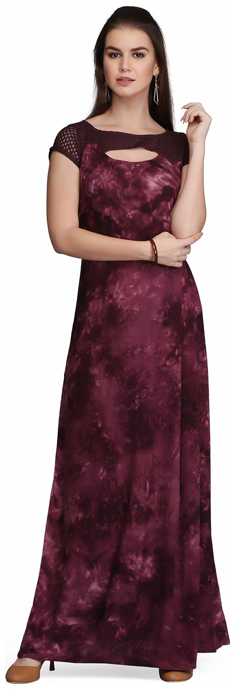 f5a32025f7211 Eavan Maroon Embellished Maxi Dress for women price in India on 6th ...