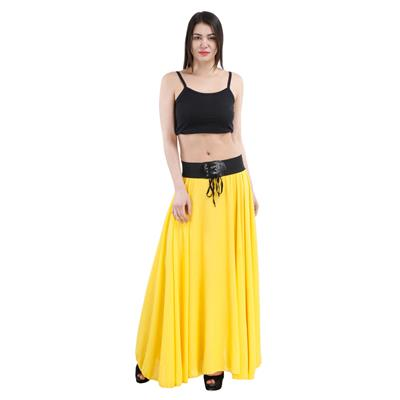 Westrobe Womens Yellow Long Skirt