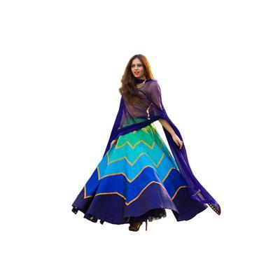 Fabron Multi designer embroidred lehenga choli with matching dupatta for woman.