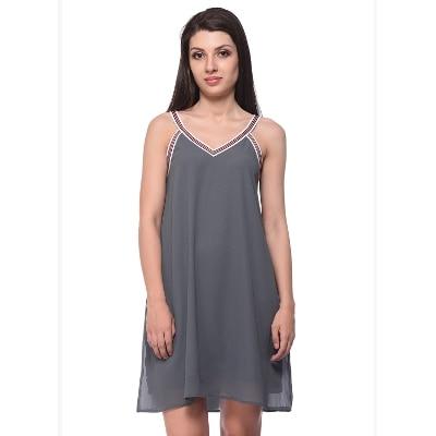 Fancy Grey Swing Dress