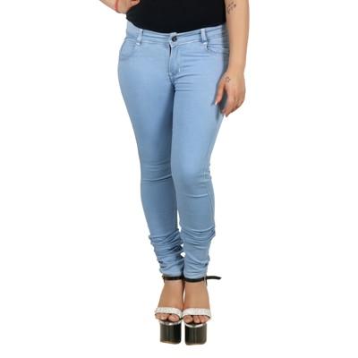 Fashion Flag Blue Cotton Slim Fit Jeans