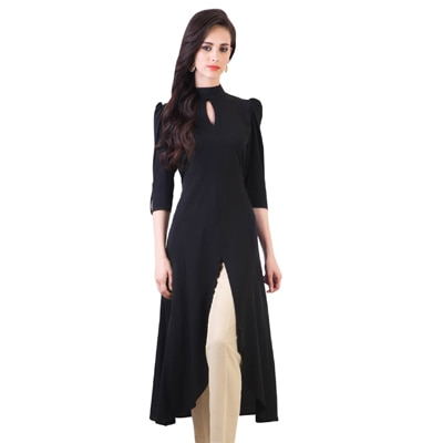 Fashion Founder Designer Party Wear Black Kurti