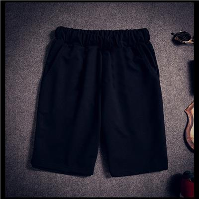 Fashion Men Cotton Straight middle-waisted Pants Casual Trousers Black