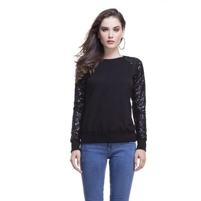 Femella Black Fleece Sweatshirts