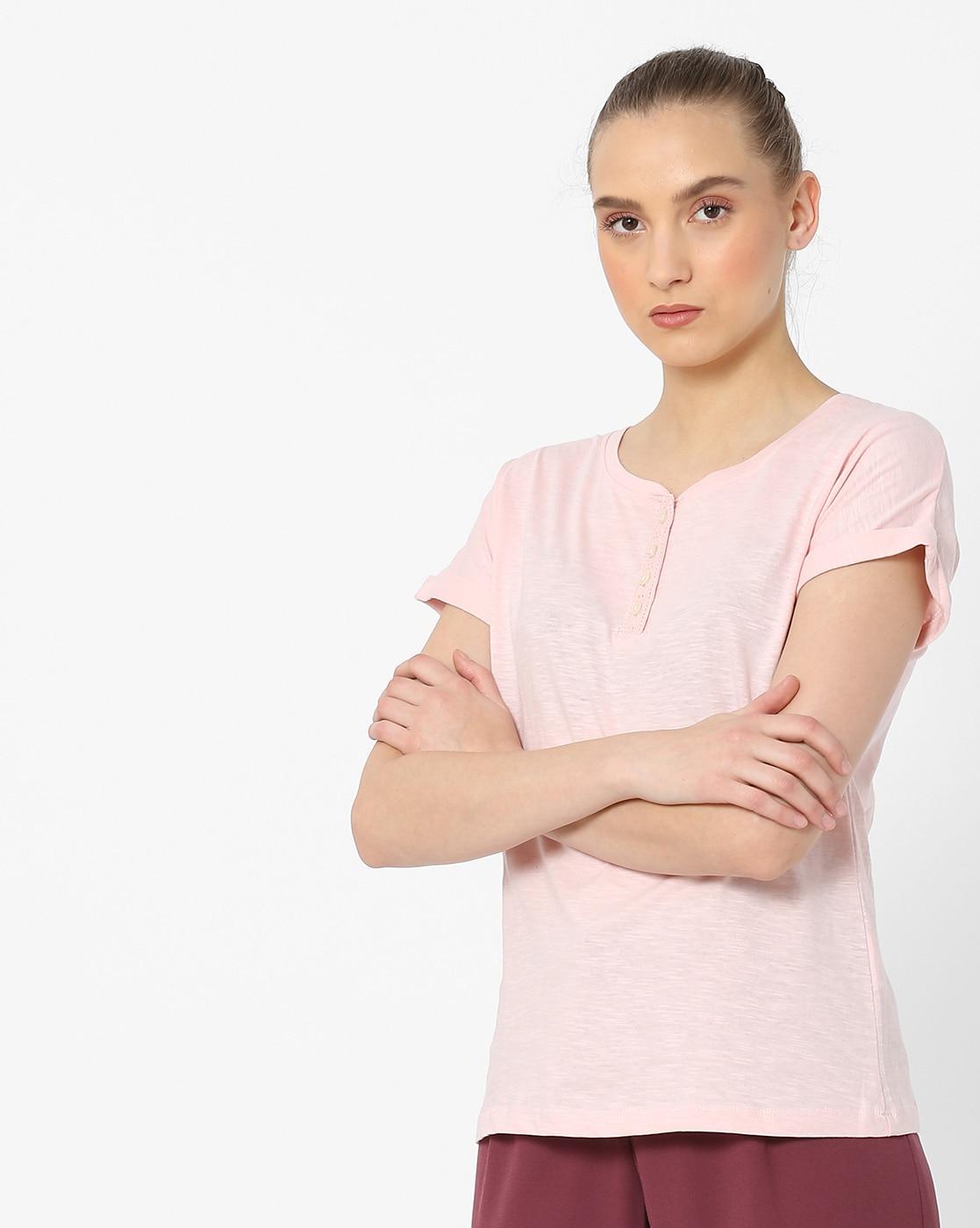 0efbeef45c Fig By Reliance Trends Women Orange T Shirt