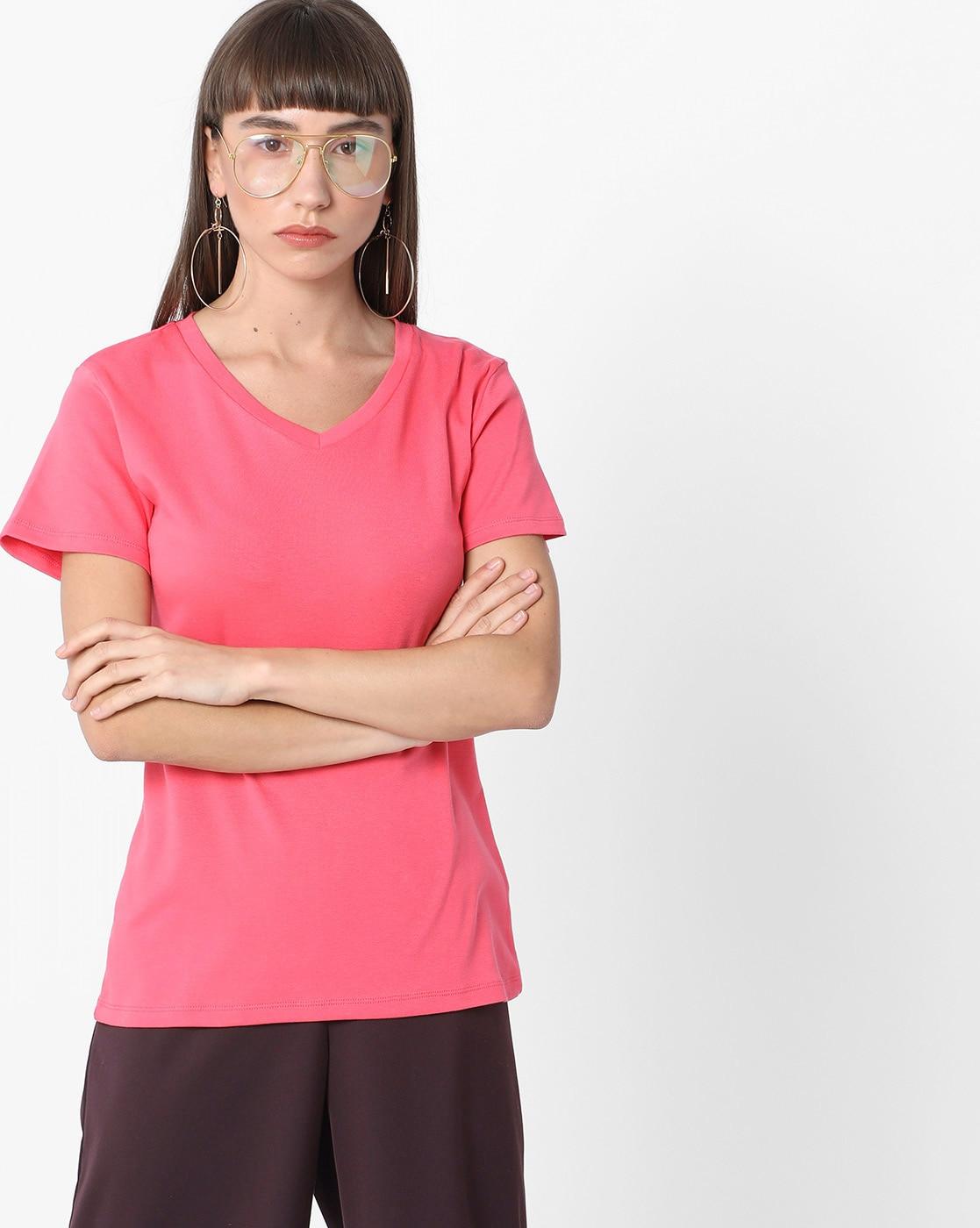 a9e0d4dd042 Fig By Reliance Trends Women Purple T Shirt